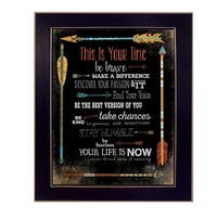 """""""This is Your Time"""" By Marla Rae, Printed Wall Art, Ready To Hang Framed Poster, Black Frame"""