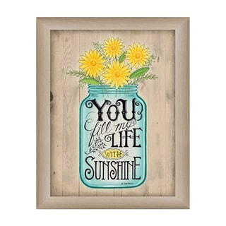 """""""Sunshine"""" By Deb Strain, Printed Wall Art, Ready To Hang Framed Poster, Beige Frame"""