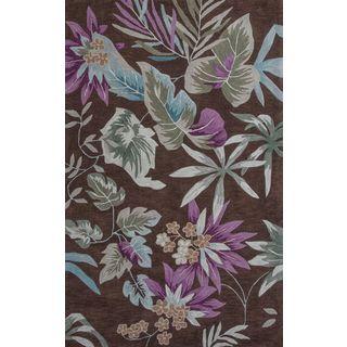 """Coral 4153 Mocha Foliage (8' x 10'6"""") Rug"""
