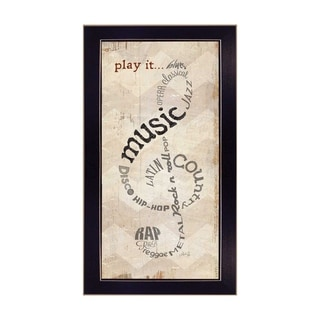 """Play It"" By Marla Rae, Printed Wall Art, Ready To Hang Framed Poster, Black Frame"