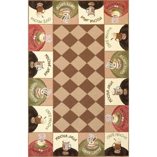 "Colonial 1812 Coffee Wake-Up Call (8' x 10'6"") Rug"