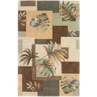 "Sparta 3158 Eathtone Foliage Views (8'6"" x 11'6"") Rug"