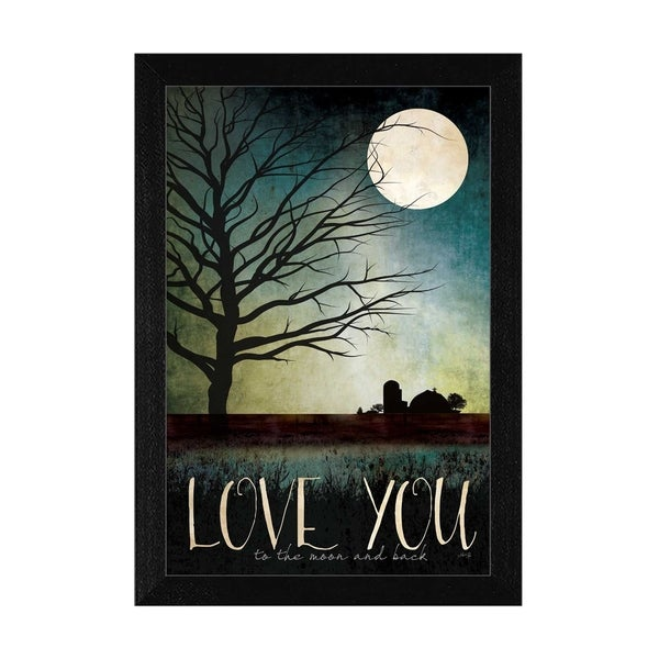 """Love You Farm"" By Marla Rae, Printed Wall Art, Ready To Hang Framed Poster, Black Frame"