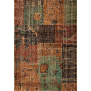 Cypress 3725 Coffee/Teal Syria (8' x 11') Rug