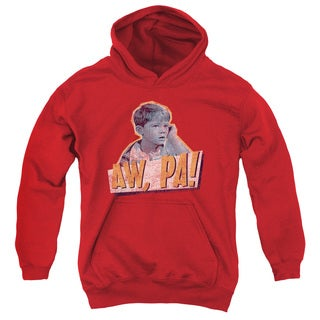 Andy Griffith/Aw Pa Youth Pull-Over Hoodie in Red