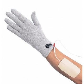 Heat in a Click Silver Fiber PCH Conductive Therapeutic Pulse Massager Gloves