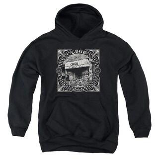 Cbgb/Front Door Youth Pull-Over Hoodie in Black