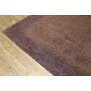 Tone-on-Tone Solid Brown Area Rug (7'6 x 10'3)