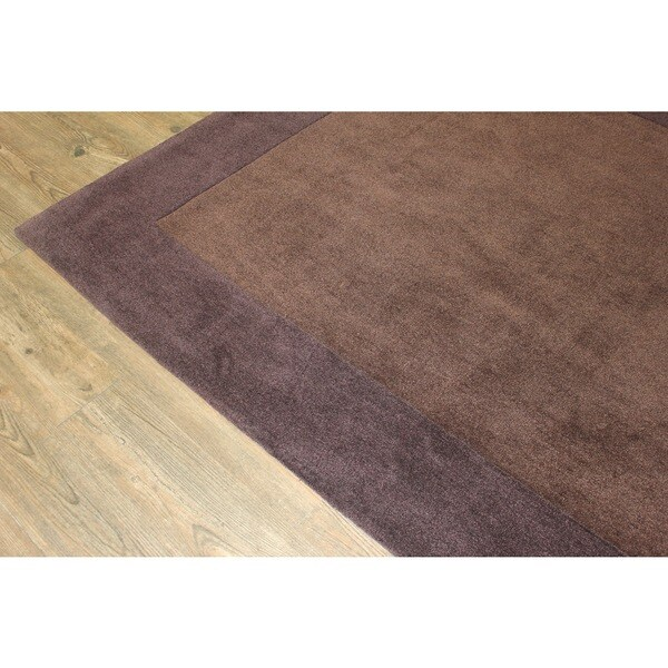 "Tone-on-Tone Solid Brown Area Rug - 7'6"" x 10'6"""