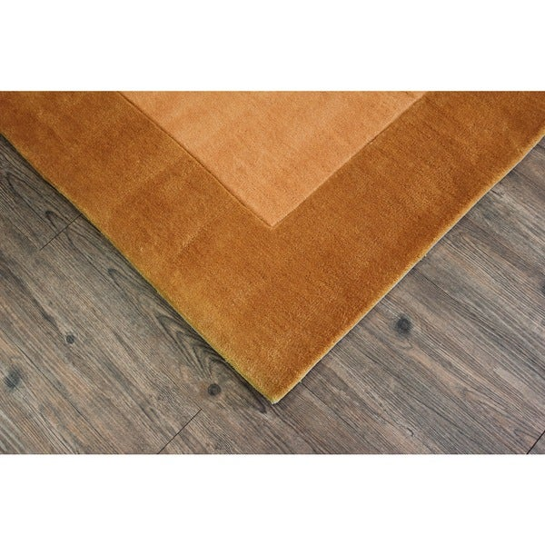 "Tone-on-Tone Solid Gold Area Rug - 7'6"" x 10'6"""