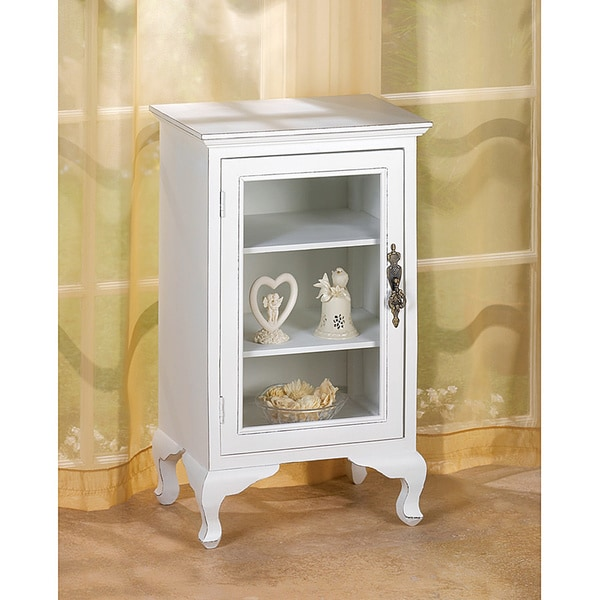 Exceptionnel Traditional White Showcase Cabinet