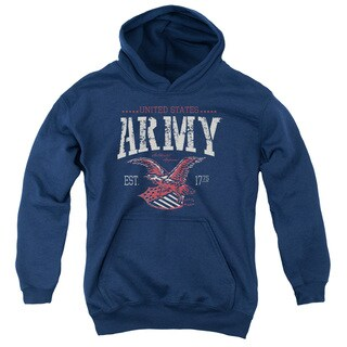 Army/Arch Youth Pull-Over Hoodie in Navy