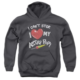 Astro Pop/I Heart Youth Pull-Over Hoodie in Charcoal