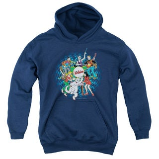 Archie Comics/Psychadelic Archies Youth Pull-Over Hoodie in Navy