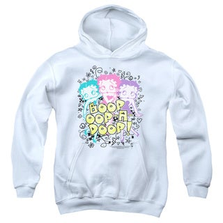 Boop/Sketch Youth Pull-Over Hoodie in White