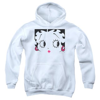 Boop/Close Up Youth Pull-Over Hoodie in White