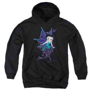 Boop/Sparkle Fairy Youth Pull-Over Hoodie in Black