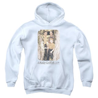 Andy Griffith/Tree Photo Youth Pull-Over Hoodie in White