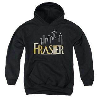 Frasier/Frasier Logo Youth Pull-Over Hoodie in Black