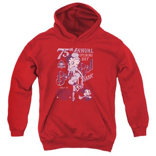Betty Boop/Boop Ball Youth Pull-Over Hoodie in Red