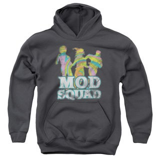 Mod Squad/Mod Squad Run Groovy Youth Pull-Over Hoodie in Charcoal