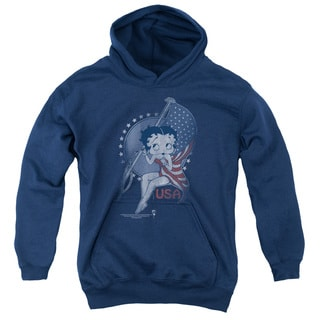 Boop/Proud Betty Youth Pull-Over Hoodie in Navy