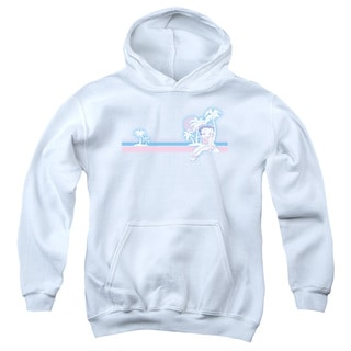 Boop/Reto Surf Band Youth Pull-Over Hoodie in White