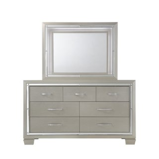 Silver Orchid Odette Glamour Dresser & Mirror Set