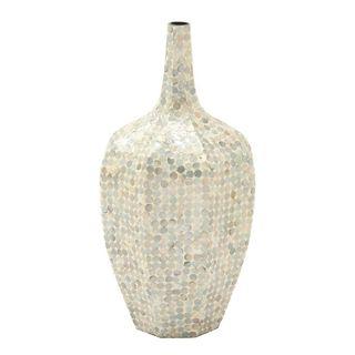 Benzara Stunning Multicolor Ps Shell Vase