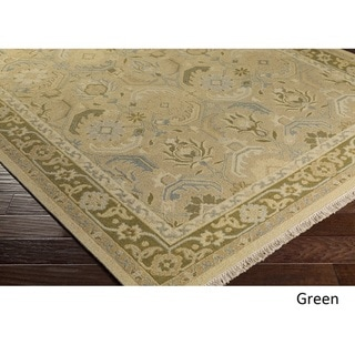 Hand-Knotted Kari Border New Zealand Wool Rug (2' x 3')