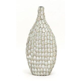 Striking Mulit-color Ceramic Patterned Sea Shell Vase