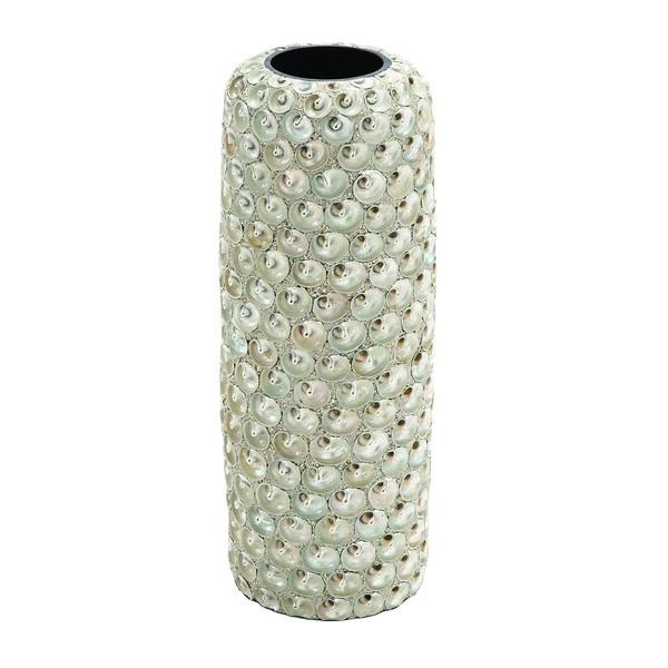 Ceramic Intricate Design Seashell Vase Free Shipping Today
