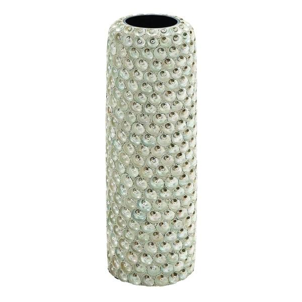Weather Resistant White Ceramic Seashell Vase Free Shipping Today