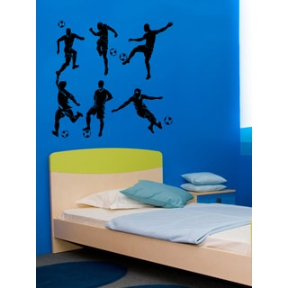 Players with the ball in soccer Wall Art Sticker Decal