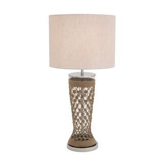 Fancy Stainless-steel Glass Jute Multi-directional Table Lamp