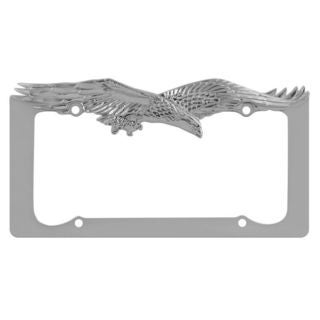 Pilot Automotive Chrome Eagle License Plate Frame for Vechicles Automobile