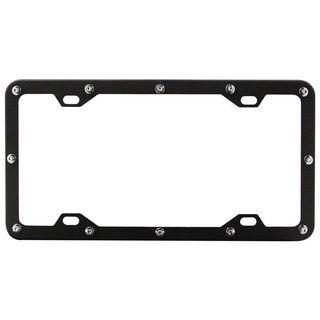 Pilot Automotive Black Flat Rivet License Plate Frame for Vehicles Automobile