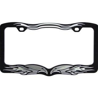 Pilot Automotive Black Eagle License Plate Frame for Vehicles Automobile