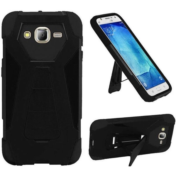 Insten Hard PC/ Silicone Dual Layer Hybrid Case Cover with Stand For Samsung Galaxy J7 (2016)