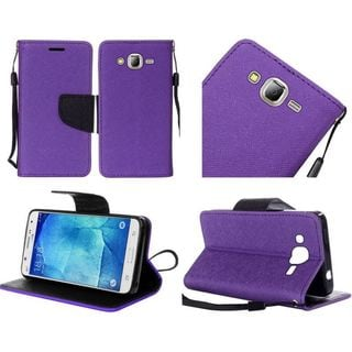 Insten Leather Case Cover Lanyard with Stand For Samsung Galaxy J7 (2016)