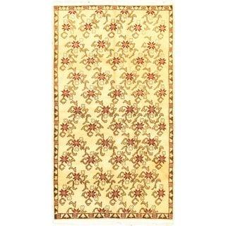 eCarpetGallery Keisari Hand-knotted Beige/Brown Wool Rug (4'5 x 7'11)