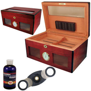 Bravo Glass Humidor Set