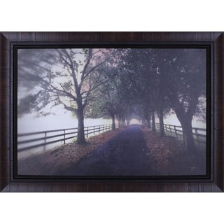 P.T. Turk 'Country Road' 30-inch x 42-inch Framed Wall Art