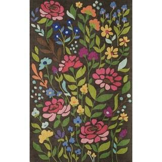Hand-Tufted Hannah Brown Wool Rug (3'9 x 5'9)