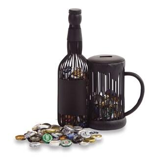 Versil Beer Mug Black Metal Cap Caddy