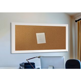 American Made Rayne Glossy White Corkboard (More options available)