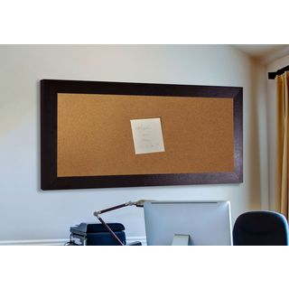 American Made Rayne Wide Brown Leather Corkboard