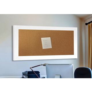 American Made Rayne White Satin Wide Corkboard