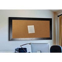 Ameican Made Rayne Black Wide Leather Corkboard