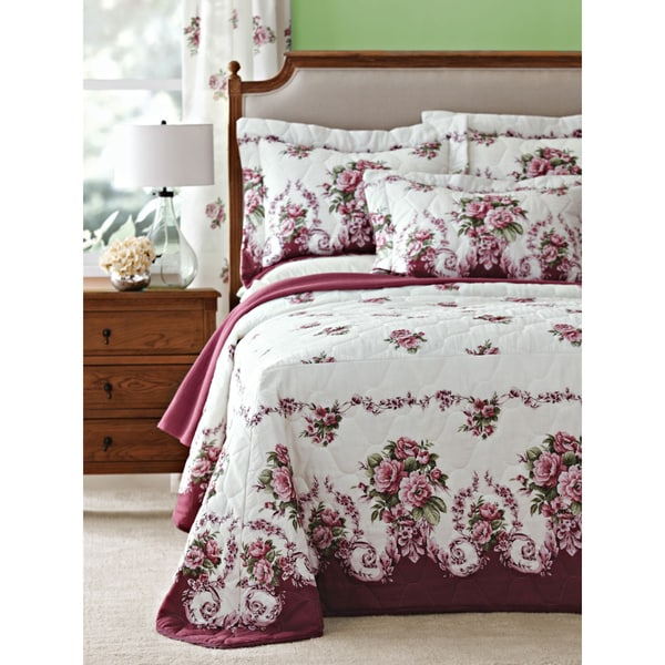 Bloomfield Rose Mitred Cornered Bedspread